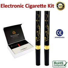 2 x Electronic E-Cigarette Starter KIT + 10x Cartridges Vape Pen E-CIG Shisha UK