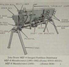 John Deere MLF Fertilizer Distributor Parts Catalog Manual book JD Original 4/64