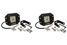 "2x 5"" 24 W Watt LED Flush Mount FLOOD Light CREE Off Road Driving Fog"