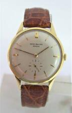 Vintage 18k Yellow Gold PATEK PHILIPPE Calatrava Mens Winding Watch Ref 2568-1