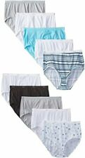 Womens Hanes 10 Pack Cotton Briefs Ladys Underwear Panties Size 10 Assorted