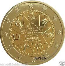 Pièce commémorative 2 euros GRECE 2014 - Union des Iles Ioniennes - Neuve