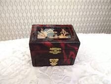 Mini Chest Chinese Art Trinket Jewellery Box With Drawer