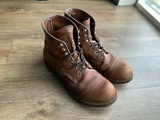 """Red Wing Heritage 8111 Iron Ranger 9D Amber Harness Leather Boots Cap Toe 6"""""""