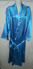UNISEX SATIN BATH ROBE DRESSING GOWN DRESS plus size 18 , 20 , 22, 24 TQ BLUE