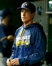 Brewers Manager CRAIG COUNSELL Signed 8x10 Photo #1 AUTO  - Player