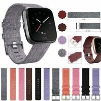 Woven Fabric Wrist Band Watch Bracelet Strap Accessories For Fitbit Versa Best