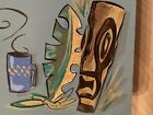 mid century modern WALL mixology  artwork BIC abstract Jetsons 50s painting tiki