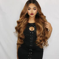 Brazilian Virgin Full Lace Human Hair Wig Wavy Ombre Blonde Remy Lace Front Wigs