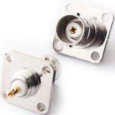 Zócalo 2x Bnc Hembra Chasis Conector de Soldadura de pared/de montaje del panel-Placa de CCTV Video