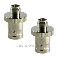 2 x SMA Female to BNC Female Antenna Connector Adapter for Two-Way Radio
