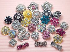 Lot 30 Mixed 10mm-18mm Sparkling Glass Rhinestone Metal shank Buttons