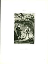 Gravure ancienne phototypie l'aimable voleur 1881 TH Gide issue du livre