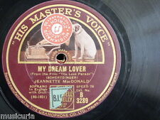 78rpm JEANNETTE MACDONALD my dream lover / march of the grenadiers [ love parade