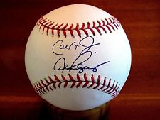 CAL RIPKEN JR ALEX RODRIGUEZ PASSING OF THE TORCH SIGNED AUTO BASEBALL IRONCLAD