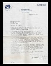 >Rare NYC 1922 C. Nestle Company SIGNED LETTER *Inventor of Hair Permanent*