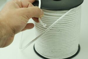 4 mm White Extra Strong Twist Polyester Rope Polystyrene Braided Nylon Para Cord