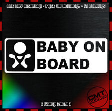 Bebé a bordo coche/Van Calcomanía Adhesivo JDM JAP Niño Novedad Parachoques - 17 Colores