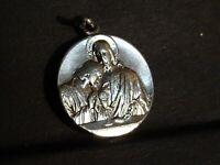 medaille religieuse Communion Marie Jesus  2 cm  MR 0165