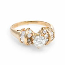 Diamond Engagement Ring Vintage 14k Yellow Gold Estate Fine Jewelry Pre Owned