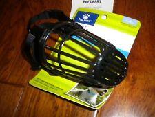 Top Paw Size Small Black Training Basket Muzzle Adjustable Straps