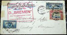 Brief New York USA 1929 Katapultflug Dampfer Bremen Norddeutscher Lloyd (52