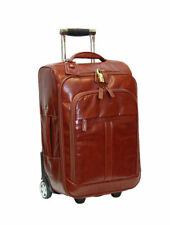 Leather Suitcase Laptop Friendly Travel Bags & Hand Luggage