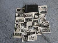 """SALE""-1900's early -set of (20) Original Black-White Amateur Photos with case."