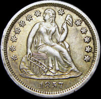 1857 Seated Liberty Dime Type Coin --- STUNNING --- #V808