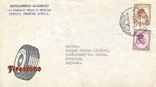 LIBYEN 1952 König Idris el-Senussi 10 Mill. + 25 Mill. dek Firestone-Firmenbrief