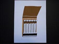 """POP-ART, signed, numbered #15/25, original silkscreen print, """"Match Book"""""""