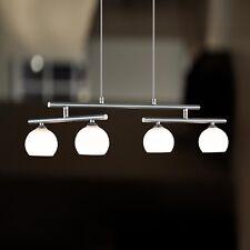 WOFI lámpara colgante SANTA FEE 4 Lámparas Níquel Cristal Bola Blanco Ajustable