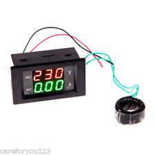 Digital AC 300V Dual Display 50A Volt Amp LED Panel Meter+Current Transformer