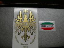 sticker adesivo per bici da corsa bianchi vintage Colore oro + made italy