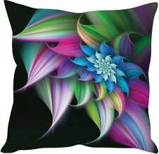 Cushion Cover Flower Leaves Printed Throw Polyester Pillow Case Home Decor Sofa