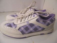 Brunswick L-011 White/Purple Bowling Shoes Womens Size 11
