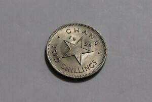 GHANA 2 SHILLINGS 1958 NKRUMAH B36 #Z8528