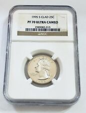 1995 S Clad 25C Quarter NGC PF70 ULTRA CAMEO Brown Label 25 Cents - Ships Fast
