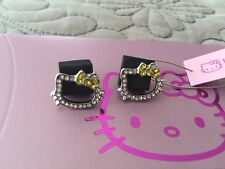 New - Cute Hello Kitty Rhinestone Outline Earrings -$25 W Gift Box!