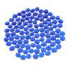 100pcs/Set Flache Glasmurmeln Glaskugeln Murmelnsteine Steine Dekoration, blau