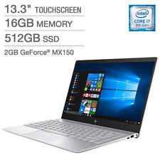 HP Envy 13t : Core i7-8550U, 16GB RAM, 512GB SSD, 4K UHD Touch Display, MX150