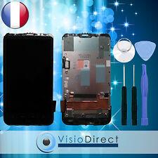 Ecran vitre complet sur chassis pour HTC Desire HD noir + kit outils