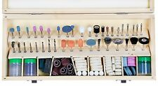 228pc. Rotary Tool Accessories Set With Wooden Case (Fits DREMEL)