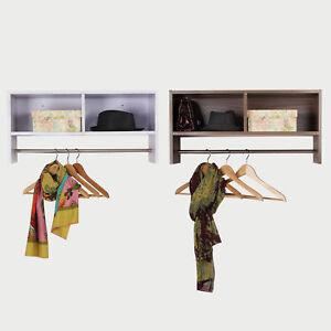 Storage Hat Rack Hanging Coat Organizer Rail Hanger Wall Mounted Home Shelf