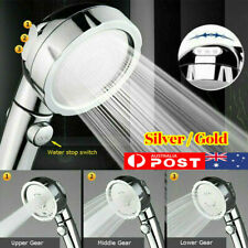 3 In 1 High Pressure Showerhead Handheld Shower Head with ON/Off Pause ON OFF AU