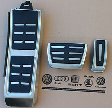 Audi RS6 4G C7 original Pedalset A6 Pedale Pedalkappen Fußstütze RS7 pedal pads