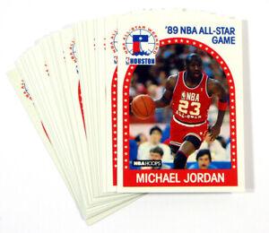 Lot of (22) 1989-90 Hoops Michael Jordan #21 All-Star Weekend Bulls