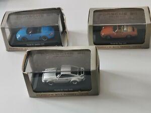 Lot 3 Porsche 911 Turbo + Taga + Speedster 1/43 Voitures miniatures*** Neuves