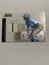 FELIX PIE 2004 Bowman Sterling Jersey Auto Combo With Stripe BS-FP Rookie RC