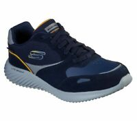 Skechers Navy shoes Men's Memory Foam Sport Comfort Casual waterproof lace 52590